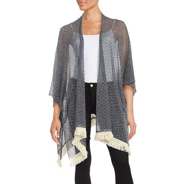 Bcbgeneration Open Knit Kimono Cardigan ($29) ❤ liked on Polyvore ...