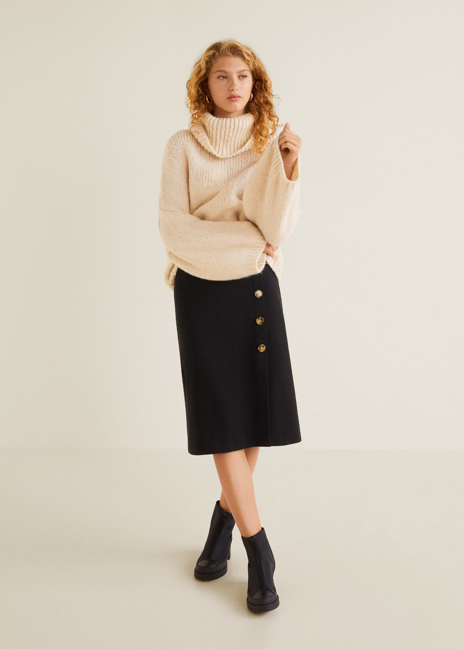 35f5f5afd0 Buttoned midi skirt - Women | Get in my Closet | Pinterest | Skirts ...