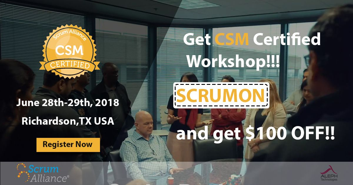 2 Day Training Course Certified Instructor Cst Led Workshop Scrum
