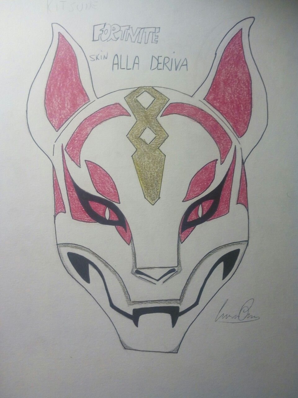 Fortnite drift mask divinit egizie disney for Fortnite disegni da colorare