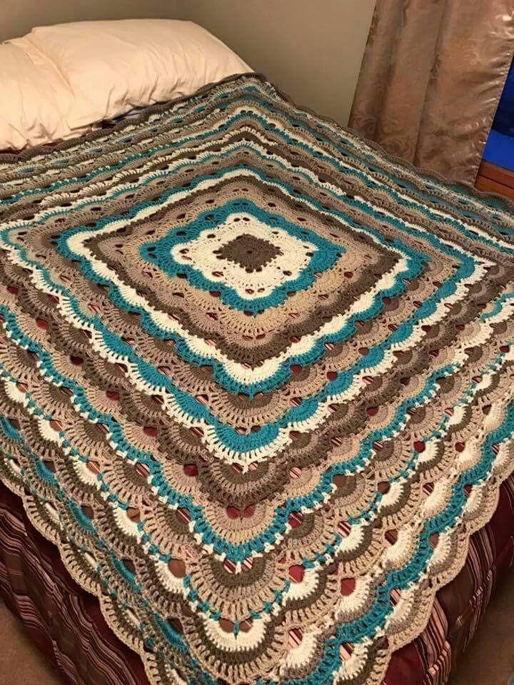 Pin by Jeanne's Beanies on CROCHET/KNIT-Blankets | Caron ...