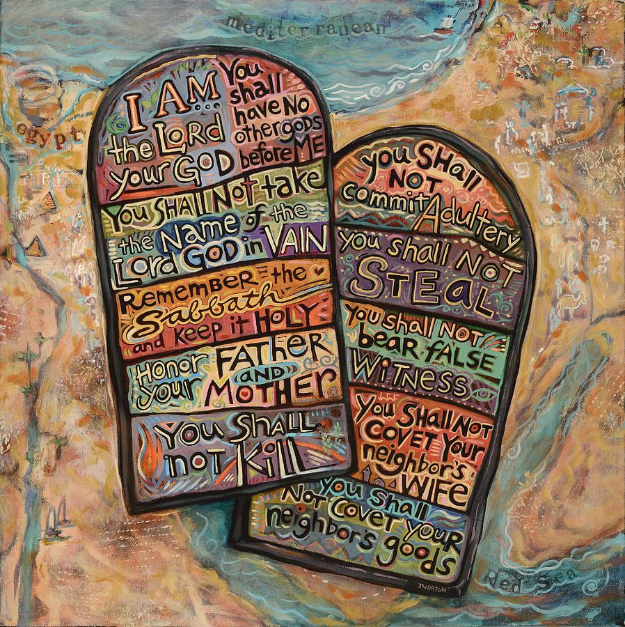 Image result for ten commandments painting