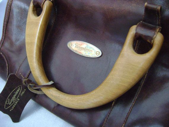 Vintage Caggiano Florence Italy Leather