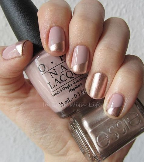 Neutral Wedding Nail Ideas That Are Definitely Not Boring | Gold ...