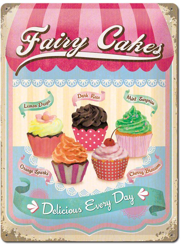 Buntes Cupcake Blechschild Perfektes Geschenk für die Hobby - geschenke f r die k che