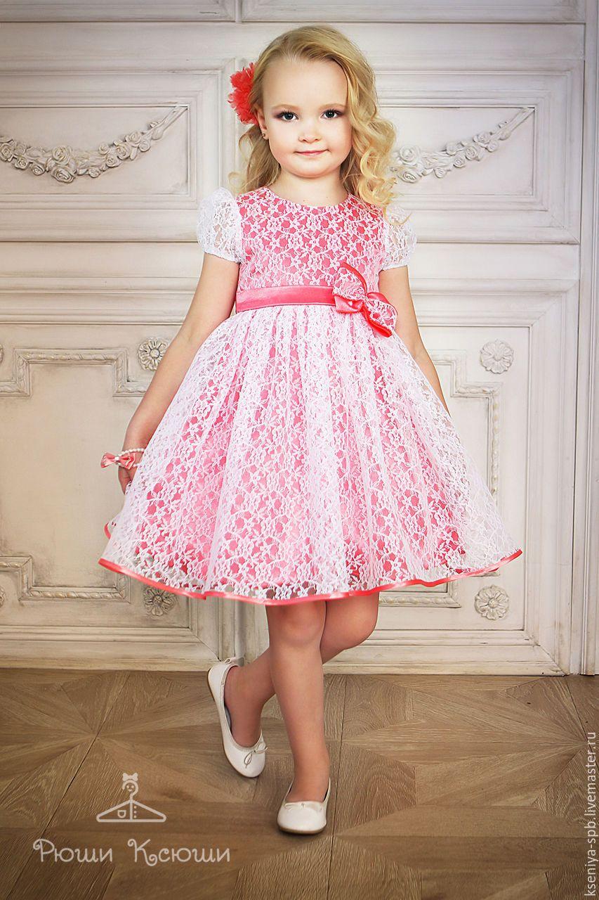 4a0cd2fd0f8e985 Купить или заказать Платье в французском стиле,нарядное для маленькой  девочки (коралл-72