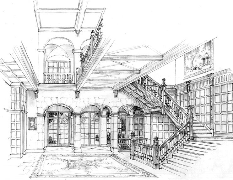 Interior Design Drawings Authentic Period Detailing With Images