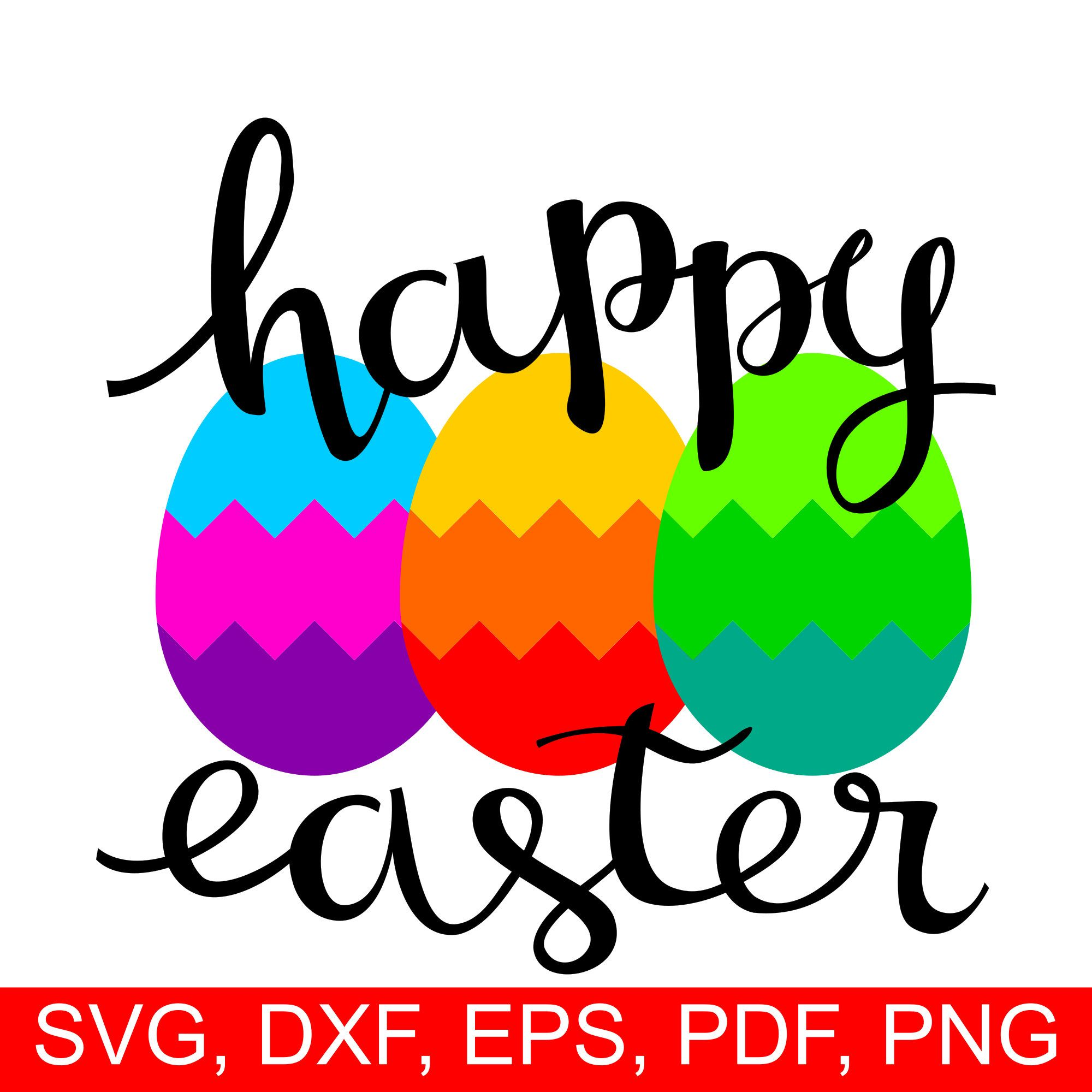 Happy easter eggs svg file for cricut and silhouette