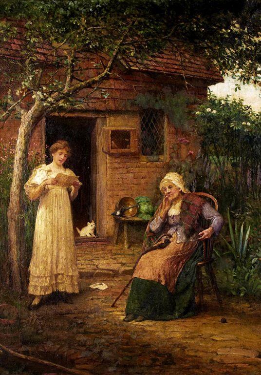 John Scott (British, 1850-1919) - News from afar