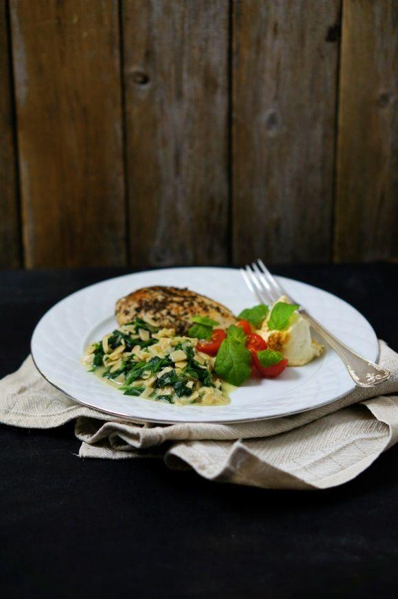 Parmesan spinach pasta