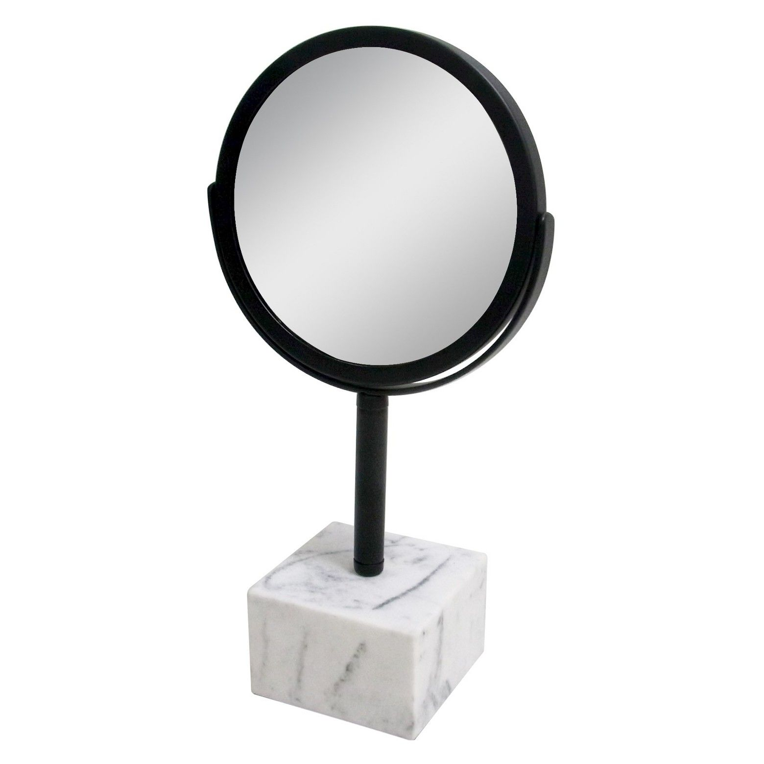Marbleized Base Bathroom Mirror Black - Nate Berkus | Nate berkus ...