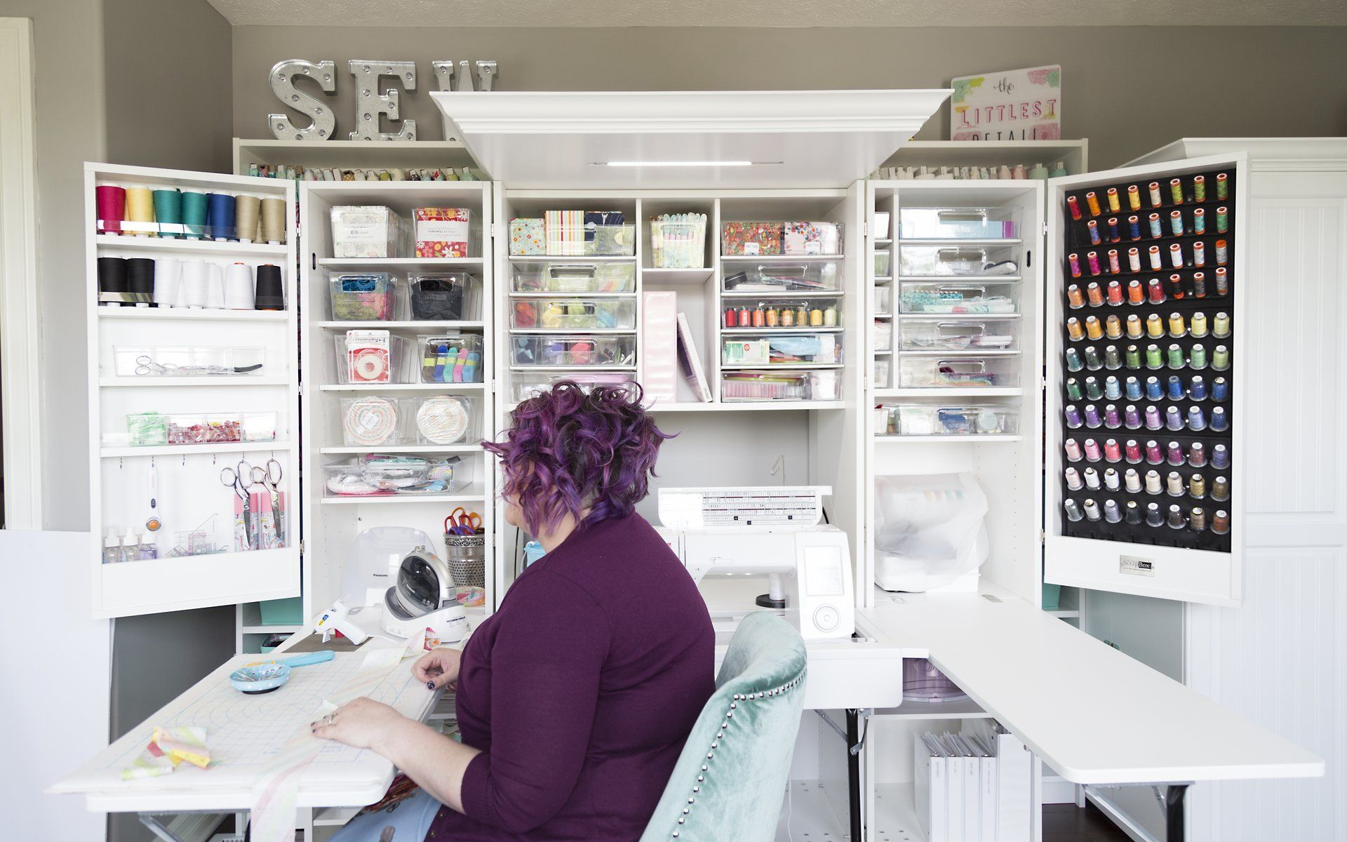 28+ Craft storage cabinet with fold out table ideas