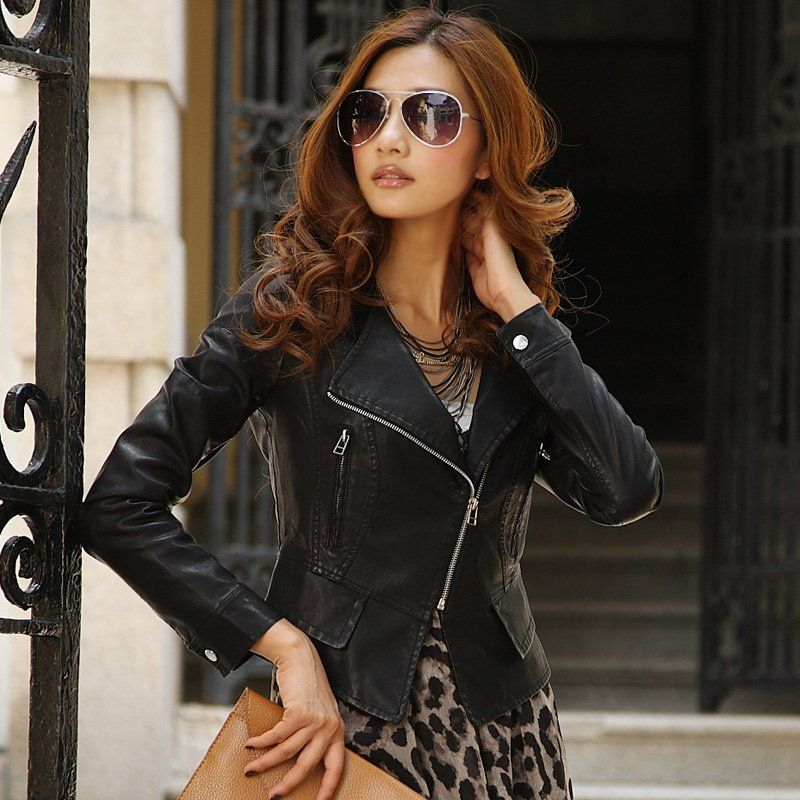 Fashion Leather Jackets Women 6O2BOc