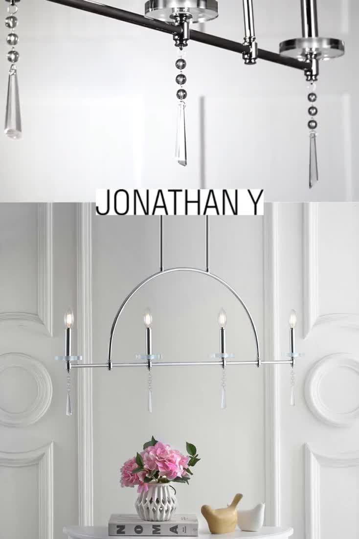 Geometric and minimal, this chic pendant is a modern classic pendant lighting. #JonathanY #HomeDecor #Lamps #DesignerLamps #ModernLighting #CeilingLighting #PendantLighting