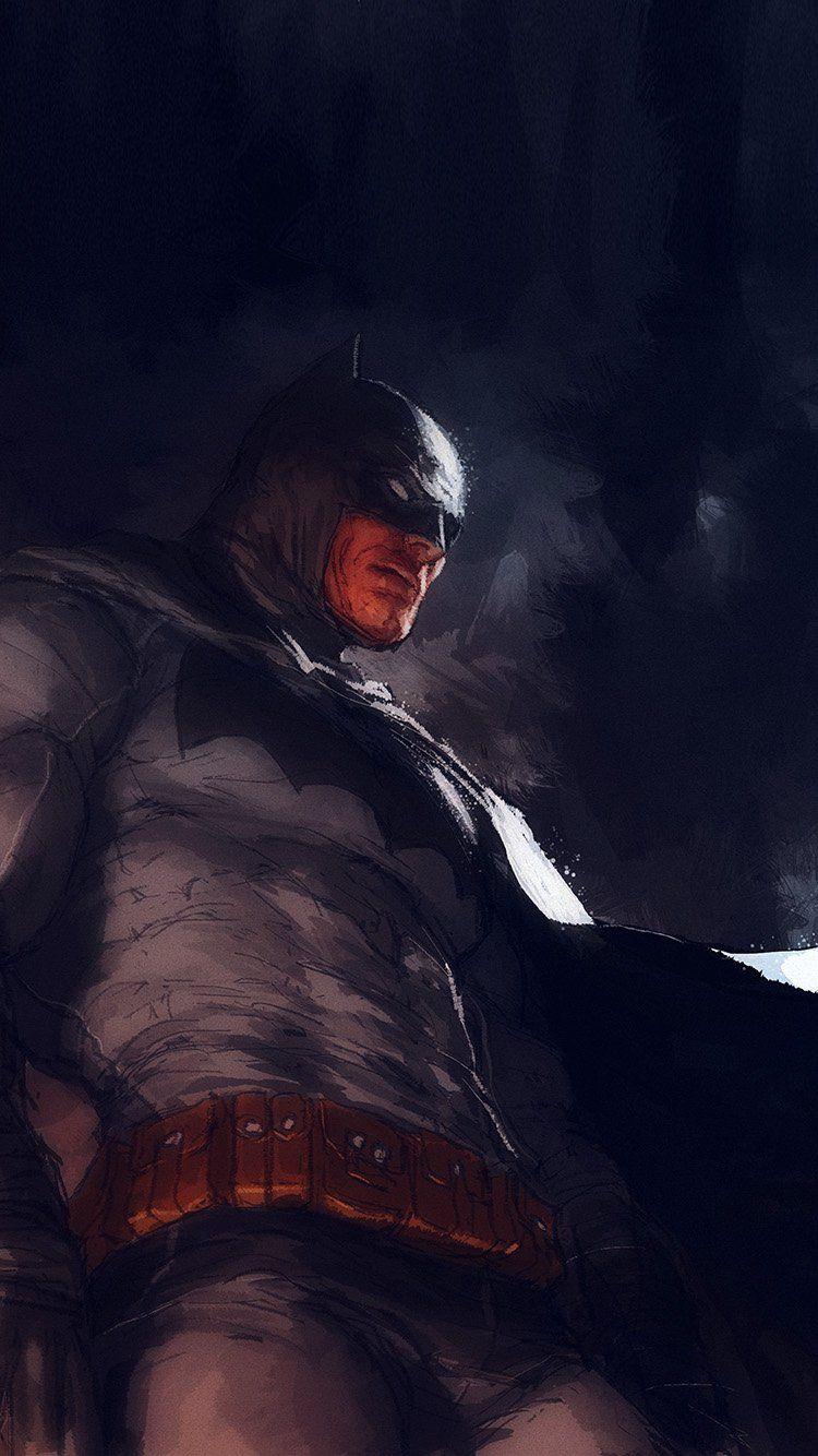 BATMAN ART ILLUSTRATION DARKNIGHT PAINT BLUE WALLPAPER HD