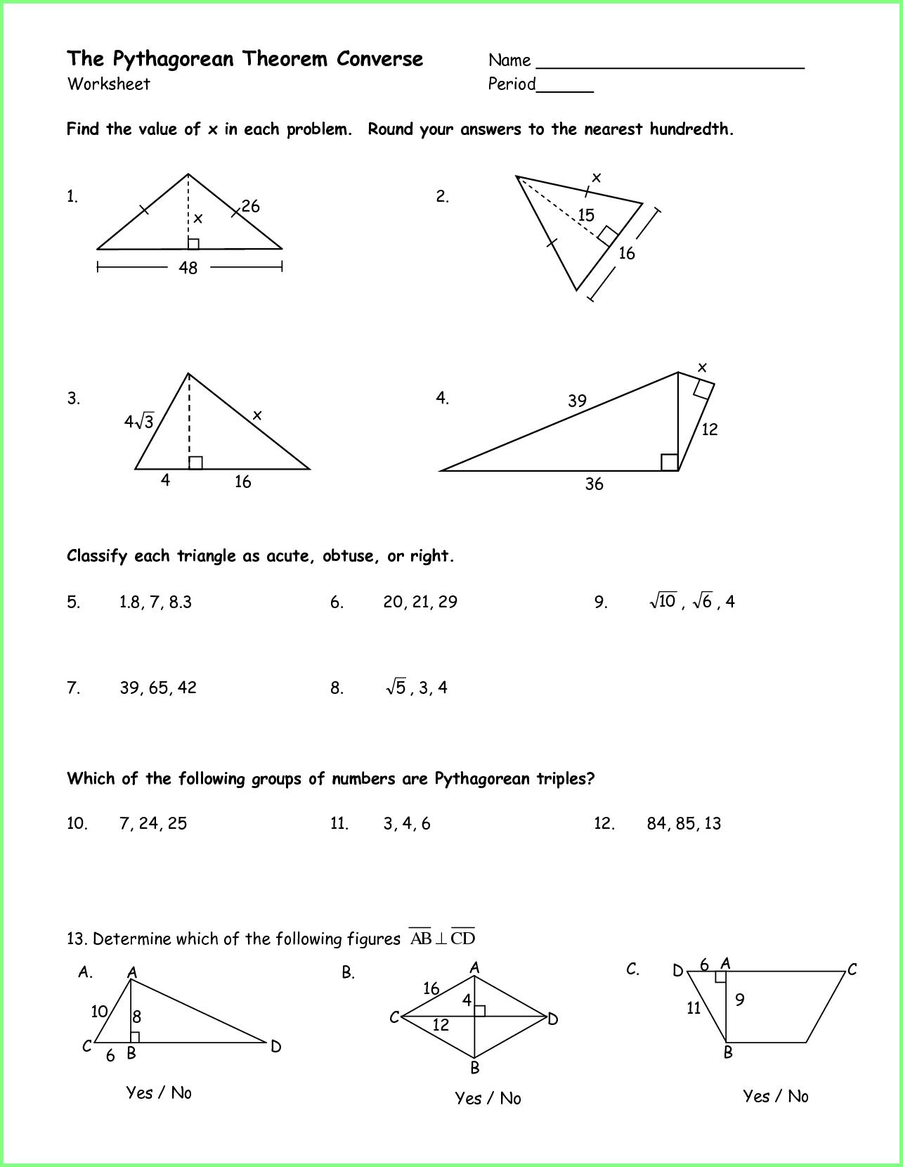 40 Innovative Pythagorean Theorem Worksheet For You