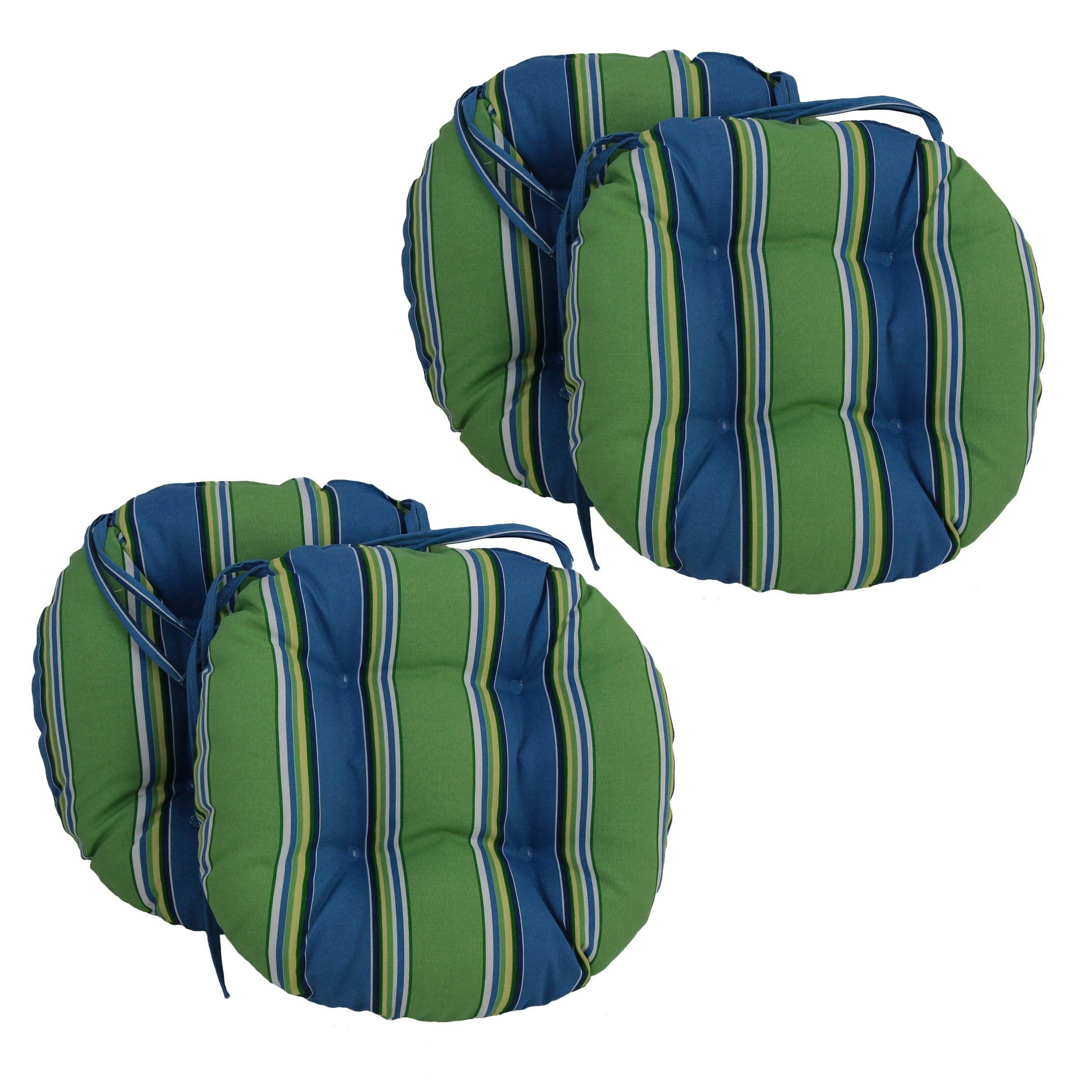 Blazing Needles 16 X 16 Inch Round Outdoor Chair Cushions Set Of 4