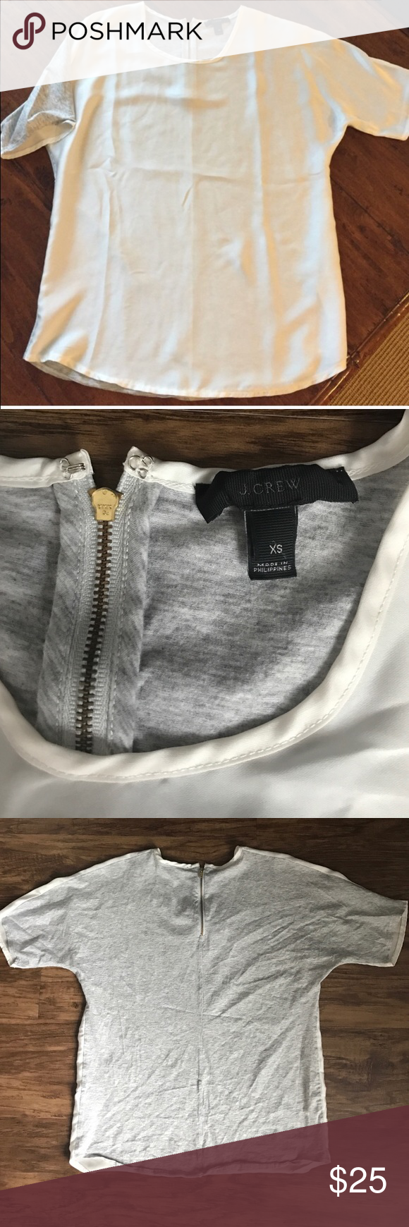 JCrew top Absolutely perfect condition! Has a boxy fit. J. Crew Tops Blouses