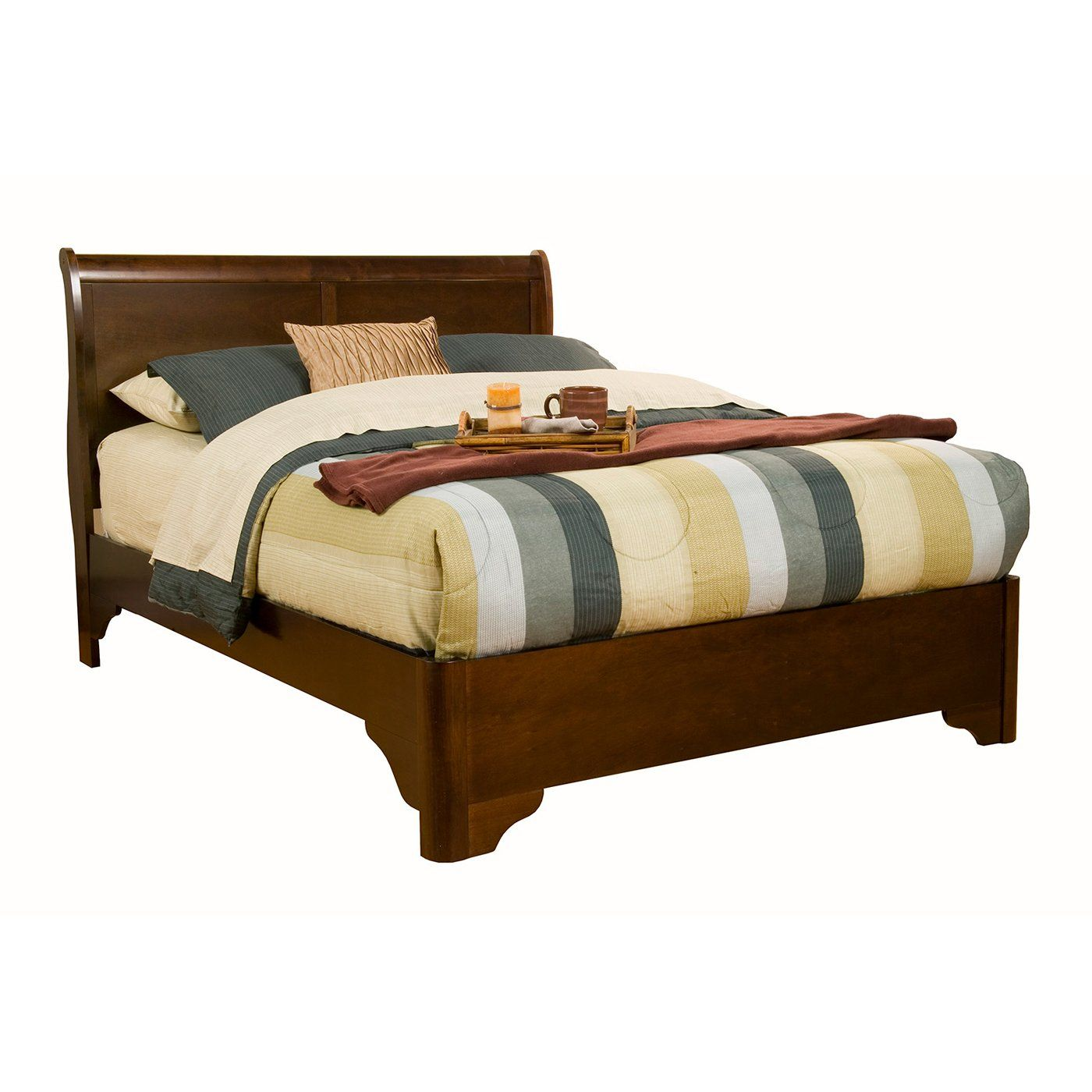 Alpine Furniture 3200 Chesapeake Low Profile Sleigh Bed