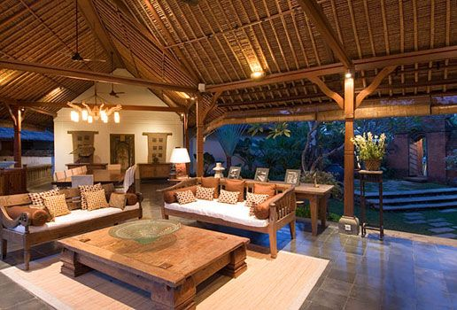 bali living room | ... making this premier villa a first class ...