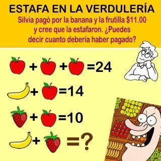 Pin De Rosi Mansilla En Juegos 2 Acertijos Matematicos Resueltos Acertijos Matemáticos Acertijos Matematicos Para Niños