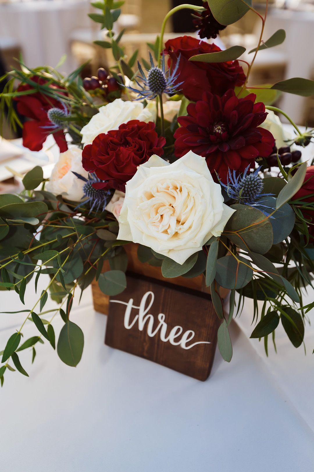 Julianne & Eric's Elegant Burgundy & White Estate Wedding - The Celebration Society