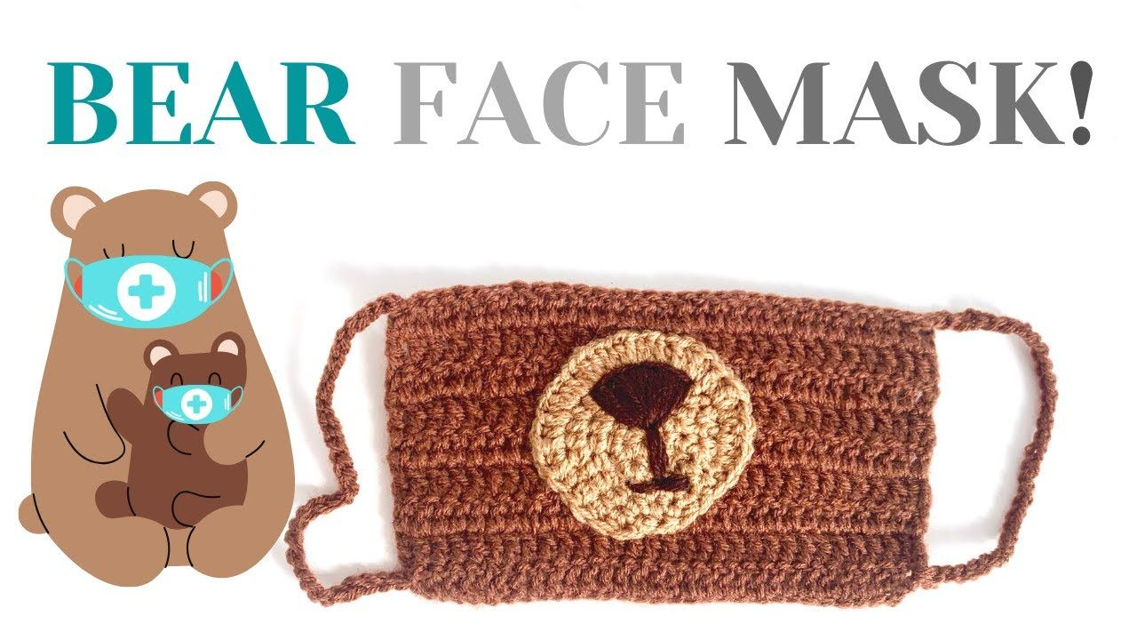 Photo of HOW TO CROCHET ANIMAL FACE MASK | Bear face mask for kids | Free crochet pattern