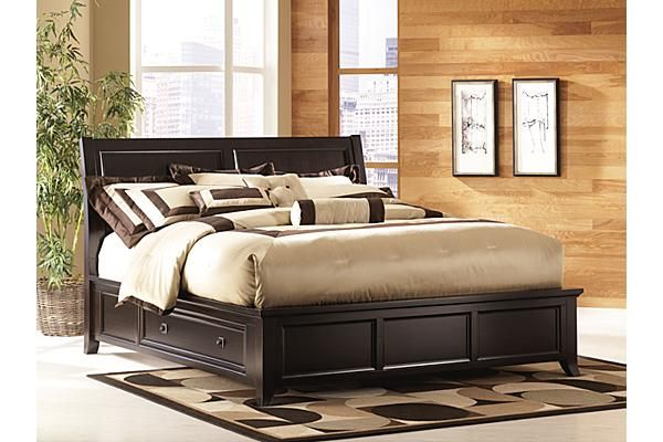 Beds Martini Suite Panel Bed W Storage Ashley Furniture Bed Frame With Drawers Bed