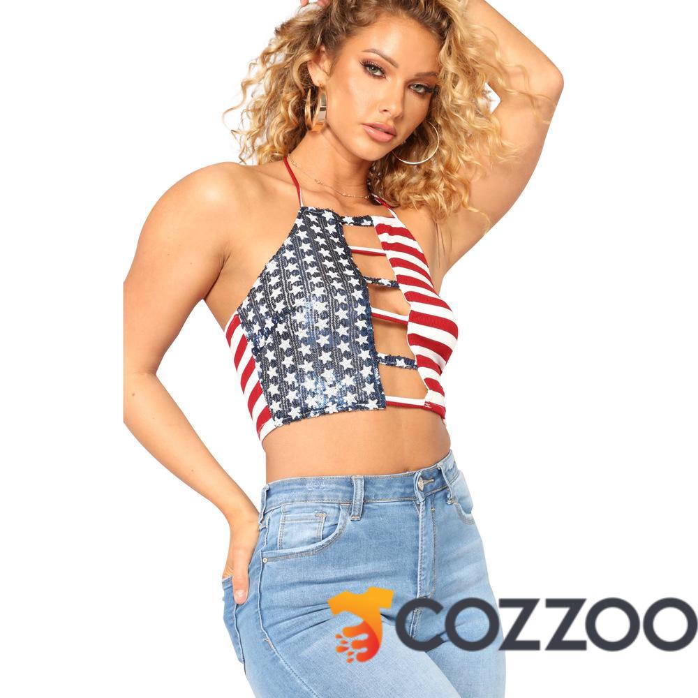 bda4579489d8 American Flag Women Strapless Bustier Crop Top https   www.cozzoo.com