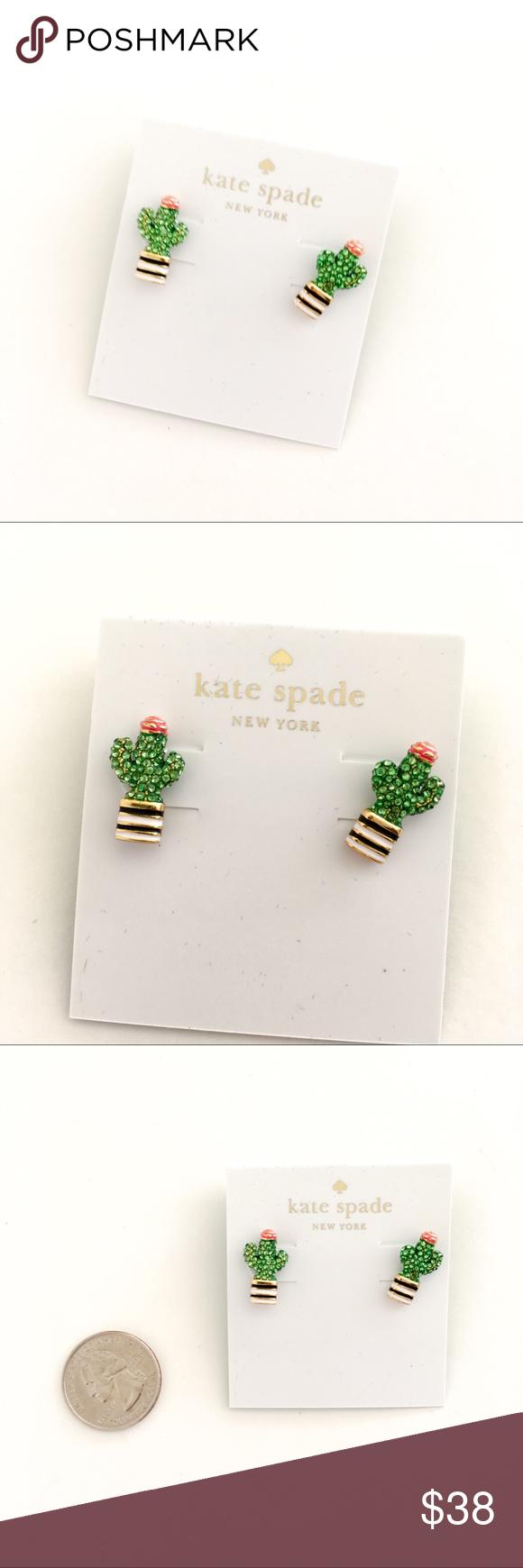 Kate Spade Cactus Earrings Nwt My Posh Picks Pinterest Kate
