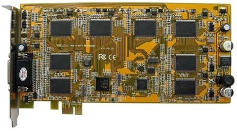 8 channel PCI-E video capture card for Windows Linux and Zoneminder