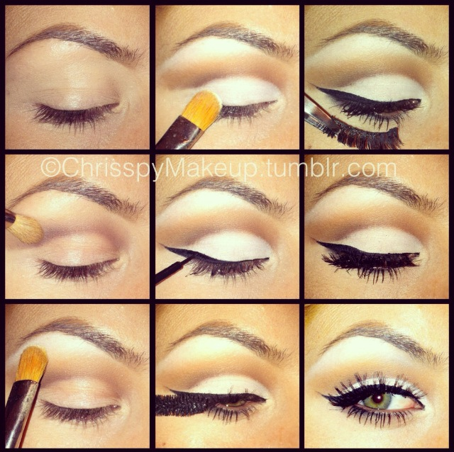 Step by Step to More Defined Looking Eye Makeup with White