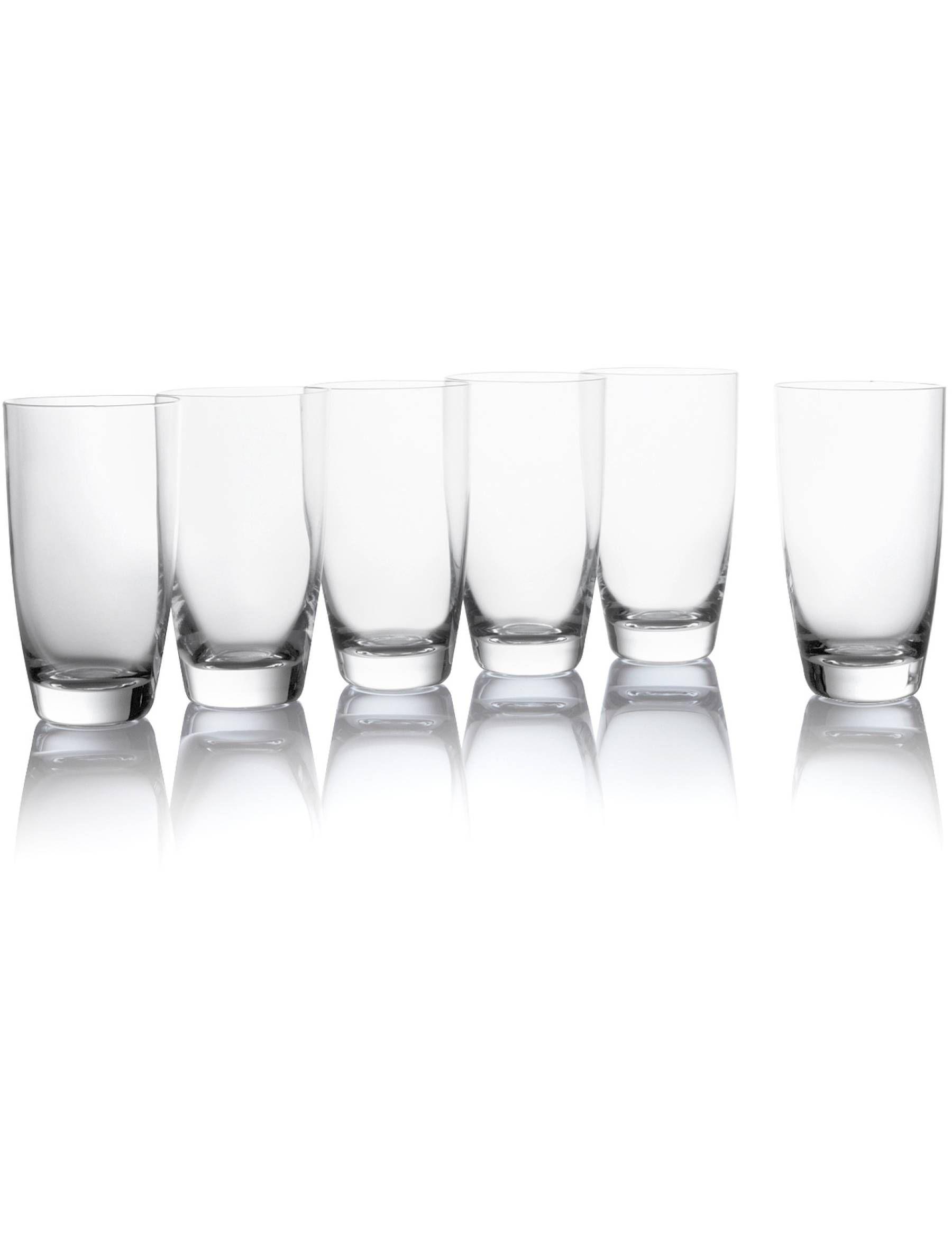 Drink Wear Water Glasses Eg Box Of Six Hi Ball Glasses In Sleek