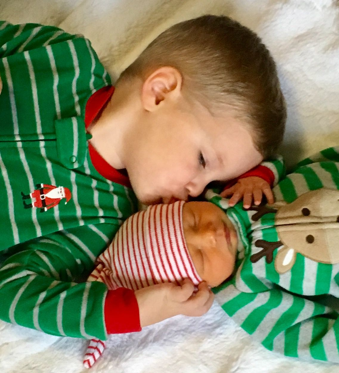 Newborn photography Brothers Newborn Christmas pictures Matching
