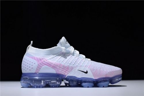 28314e6810afd Authentic Nike WMNS Air VaporMax Flyknit 2.0 Coloured Drawing White Blue  Running Shoes - Nawomenshoes