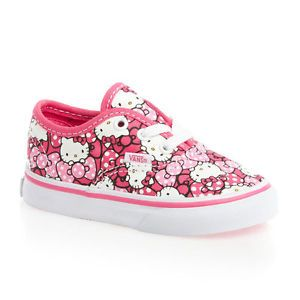 9083c14263 Vans Authentic Girls Trainers Shoes - (Hello Kitty) Morning Glory Hot Pink