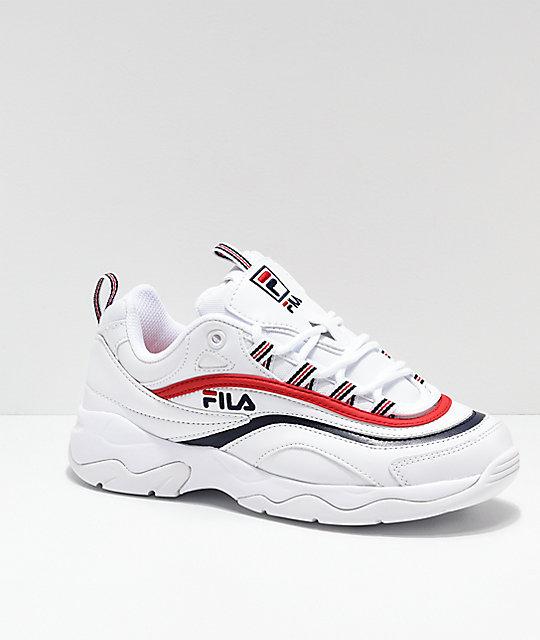 FILA Ray Red, White \u0026 Blue Shoes