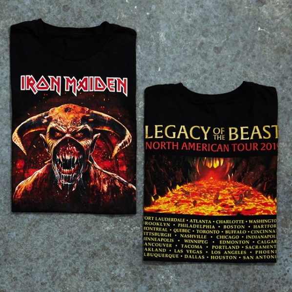 Iron Maiden Legacy Of The Beast 2019 Tour T Shirt Tour T Shirts Iron Maiden Iron Maiden Shirt