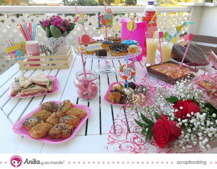 Como decorar fiestas infantiles de cumplea os ideas scrapbooking scrap paper papercraft Mesa de cumpleanos infantil