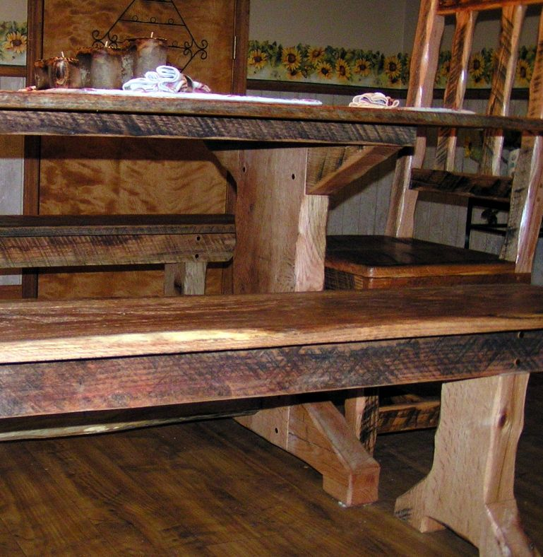 Natural Wood It Just Looks So Solid Like It Could Hold Up A Hearty Feast And People With Hearty A Country Furniture Rustic Furniture Rustic Country Furniture