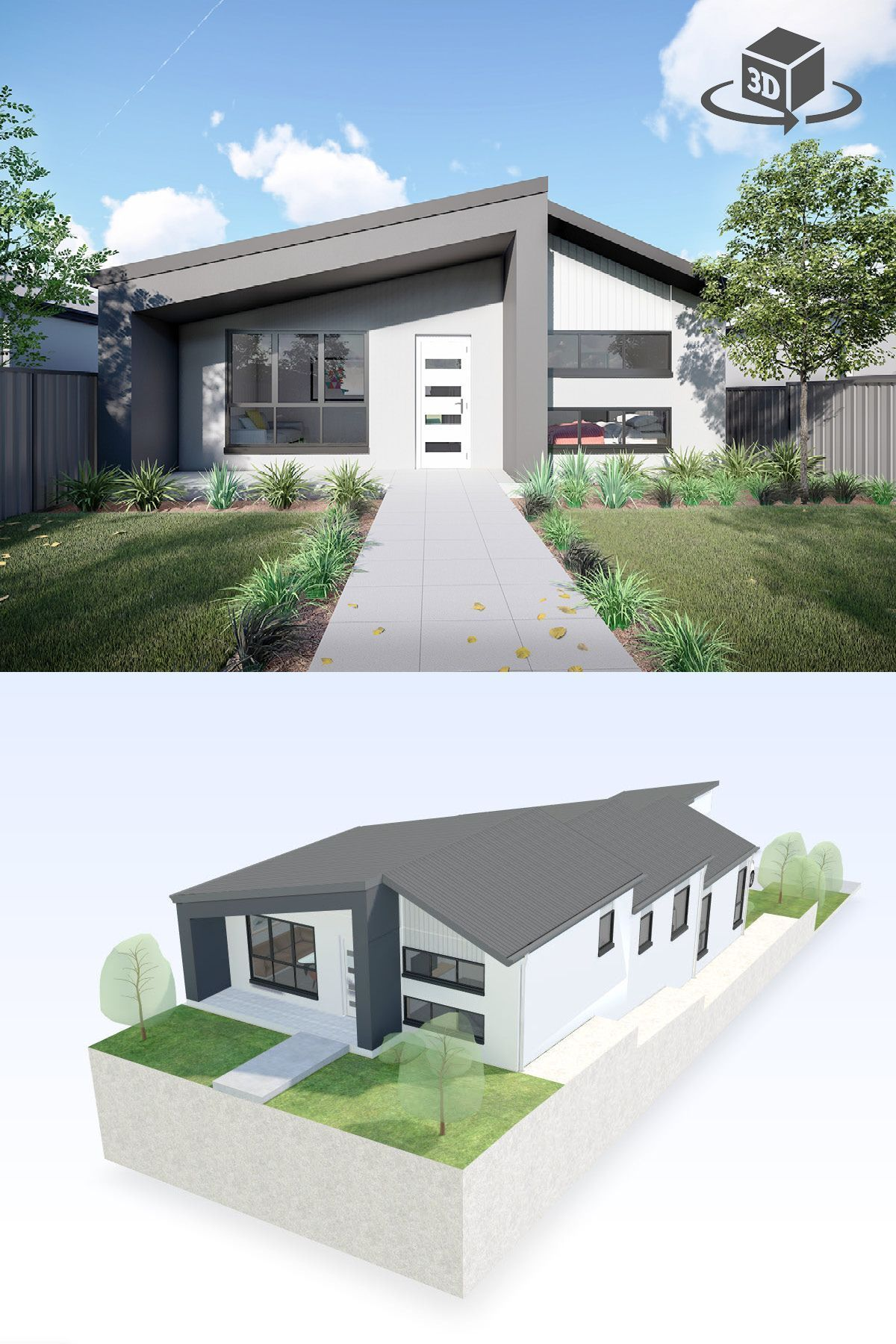 4 Bedroom House Design In Interactive 3D. Get Your Own 3D Model Today At Http://planto3d.com