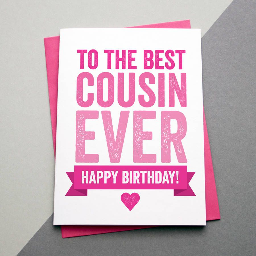 Happy birthday cousin by a is for alphabet notonthehighstreet