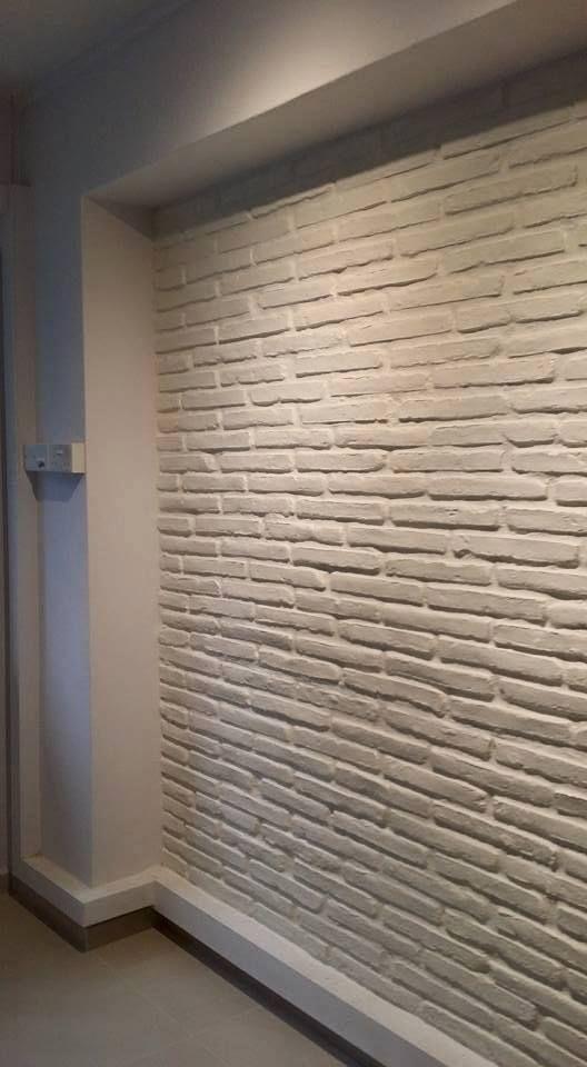 Wandverkleidung Steinoptik In Nische Wandgestaltung Wohnzimmer In