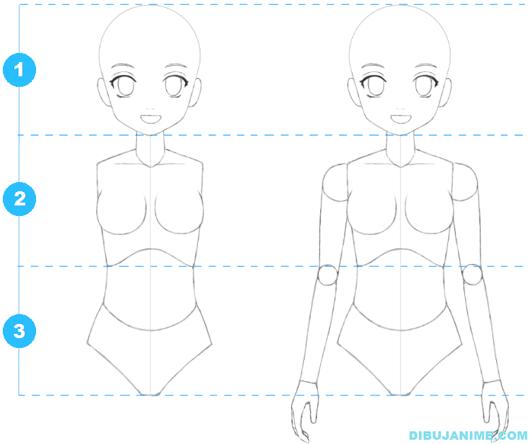 Como Dibujar A Una Mujer Anime Cuerpo Y Rostro Paso A Paso Como Dibujar Anime Facil Aprender A Dibujar Anime Ensenar A Dibujar