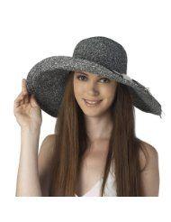 Luxury Lane Womens Navy Floppy Sun Hat with Shell Trim  86e0e5b3c679