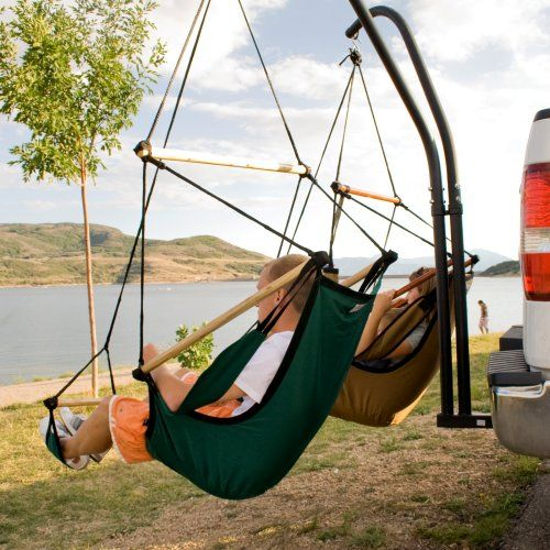 Hammaka Trailer Hitch Stand - Hammock Chairs & Swings at Hayneedle FOR DAD< HIS TRUCK AT THE CABIN OR AT THE SHOP... pitch in with Robert?