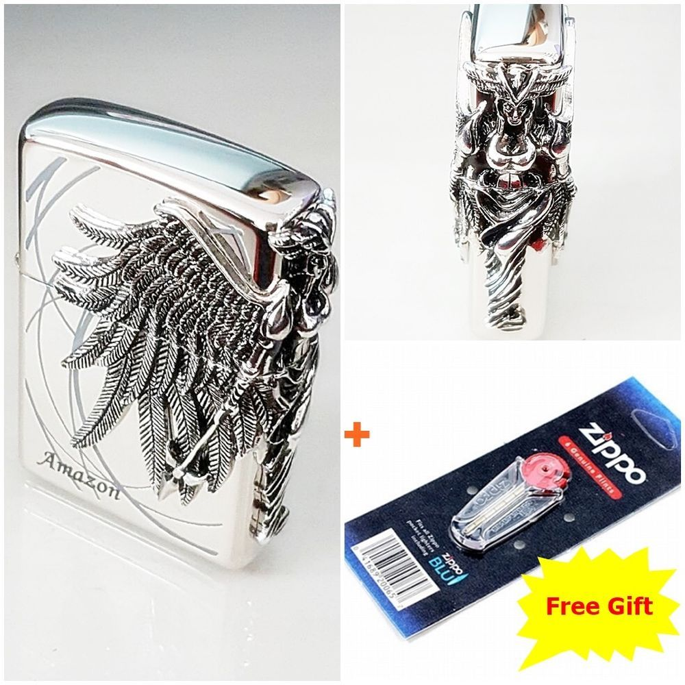 Zippo Amazon Nickel Emblem Windproof Lighter Made In Usa 6 Flints For Free Ebay Windproof Lighter Zippo Nickel