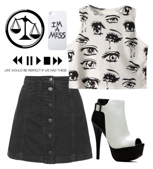 """Candor"" by fandombreather ❤ liked on Polyvore featuring Topshop, Chicnova Fashion, LAUREN MOSHI, women's clothing, women, female, woman, misses and juniors"