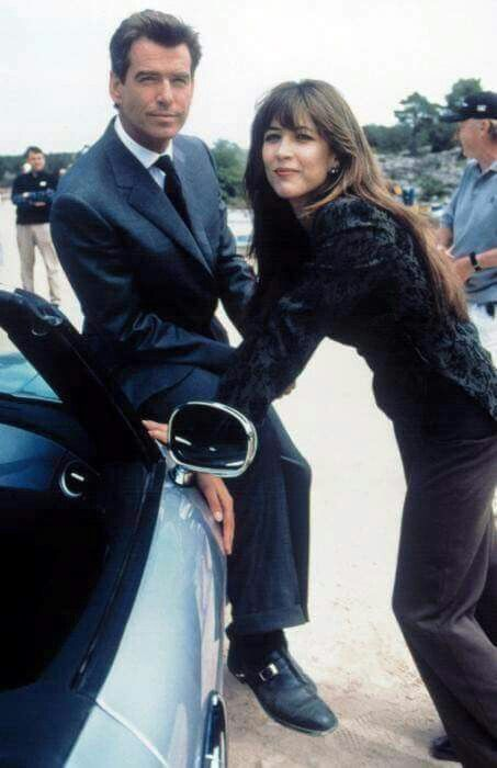 Pierce Brosnan And Sophie Marceau Backstage Set Area In The