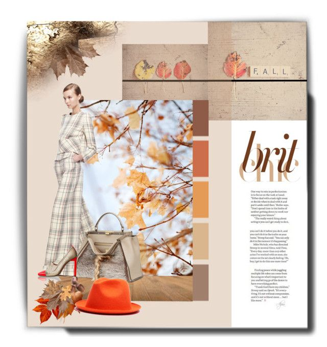"""""""Autumn Leaves"""" by alevalepra ❤ liked on Polyvore featuring Delpozo, Fendi, Reed Krakoff and REINHARD PLANK"""